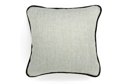 Chic Upholstered Throw Pillows with Piping