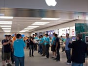 Apple Employees Line Up