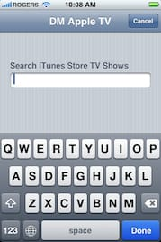 Search iTunes Store TV Shows – iPhone Remote App
