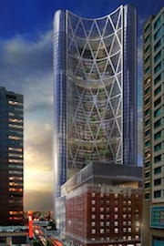 An Artist's Rendering of The Encana Bow Tower in Calgary