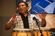 Alex Acuña Playing Congas