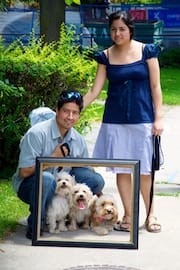 Michelle & José w/ The 3 Dogs