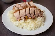 Roast Pork on Rice at Lam Kee BBQ Restaurant
